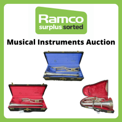 Ex Royal Military Band Musical Instruments From Kneller Hall - Euphonium, Trombone & Fanfare Trumpets - Delivery Only