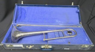 Boosey & Hawkes Sovereign trombone with case. Serial number: 655399.