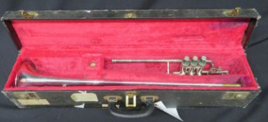 Boosey & Hawkes Imperial fanfare trumpet with case. Serial number: LP. 399555.