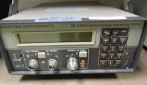 Marconi Instruments 2442 Microwave Counter 26.5GHz (No Power Cable)