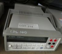 Agilent 34401A 6 1/2 Digit Multimeter with HP Carry Bag