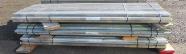 150x 8ft Galvanised Steel Scaffolding Poles 48mm Diameter x 4mm Thick.