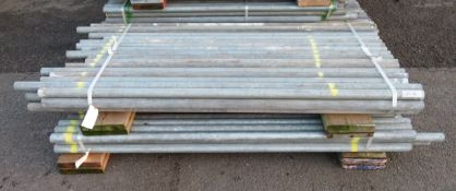 100x Various Length Galvanised Steel Scaffolding Poles. Lengths Range Between 6.5ft - 5.5ft.