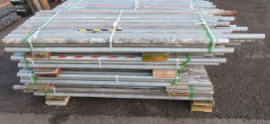 200x Various Length Galvanised Steel Scaffolding Poles. Lengths Range Between 7.5ft - 5ft.