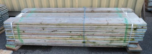 46x 8ft Wooden Scaffolding Board.
