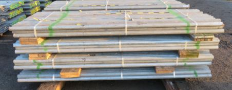 200x Various Length Galvanised Steel Scaffolding Poles. Lengths Range Between 8ft - 8.5ft.
