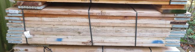 48x 6ft Wooden Scaffolding Boards. Please Note There Is A £10 Loading Charge On This Lot.