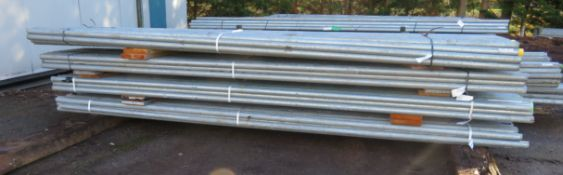 200x 13ft Galvanised Steel Scaffolding Poles 48mm Diameter x 4mm Thick.