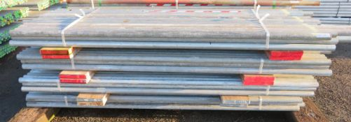 200x Various Length Galvanised Steel Scaffolding Poles. Lengths Range Between 8.5ft - 7ft.