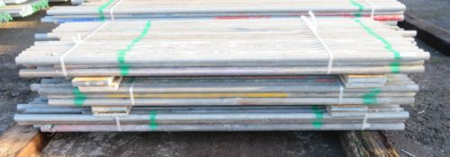 150x Various Length Galvanised Steel Scaffolding Poles. Lengths Range Between 8.5ft - 7.5ft.