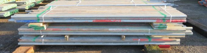 150x Various Length Galvanised Steel Scaffolding Poles. Lengths Range Between 11.5ft - 8.5ft.