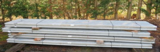 200x 16ft Galvanised Steel Scaffolding Poles 48mm Diameter x 4mm Thick.