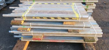 200x Various Length Galvanised Steel Scaffolding Poles. Lengths Range Between 7ft - 4.5ft.
