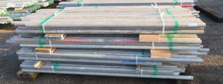 200x Various Length Galvanised Steel Scaffolding Poles. Lengths Range Between 8ft - 7.5ft.