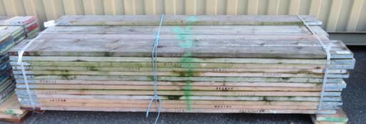 50x 8ft Wooden Scaffolding Board.