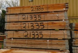 48x 13ft Wooden Scaffolding Boards. This Is An Overview Picture And You Will Receive A Bat