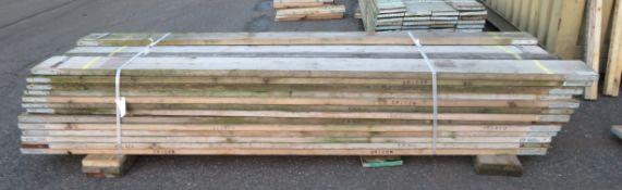 50x 10ft Wooden Scaffolding Board.