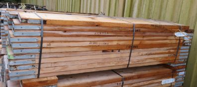 44x 6ft Wooden Scaffolding Boards. Please Note There Is A £10 Loading Charge On This Lot.