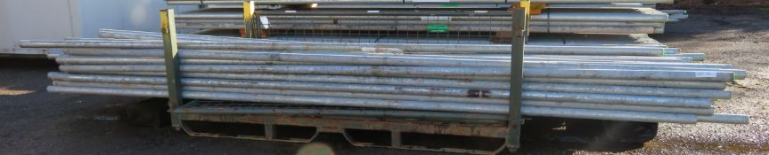 100x 13ft Galvanised Steel Scaffolding Poles 48mm Diameter x 4mm Thick.