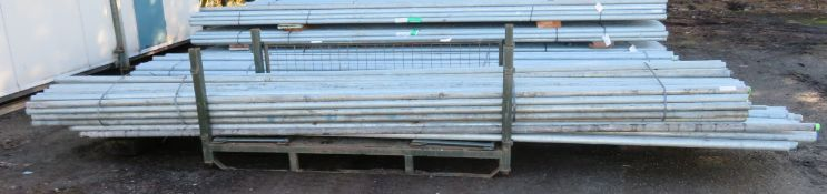 100x 16ft Galvanised Steel Scaffolding Poles 48mm Diameter x 4mm Thick.