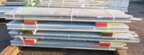 200x Various Length Galvanised Steel Scaffolding Poles. Lengths Range Between 9ft - 7.5ft.
