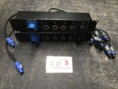 2x NL4/PA-Conn patch panel with 16A input (2U)