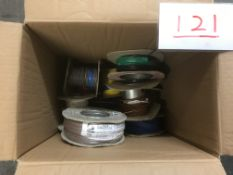 Box of part rolls single core 0.5mm sq cable