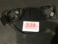3U Vent panel with fans