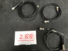 3x 8 pin DIN cables for analogue dimmer packs