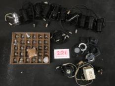 Box of 12v PAR16 Birdies with gel frames & spare lamps