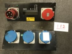 """2x 19"""" rack panel with power connectors"""