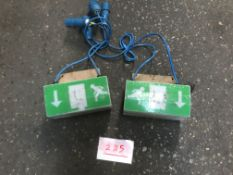 2x Emergency Exit signs