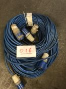 3x 30m arctic blue cable, 32a ends