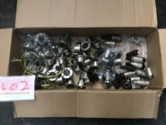 Box of EP5 connectors and spares, new and used