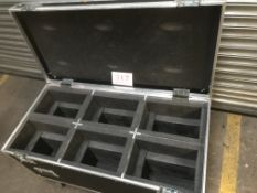Flightcase with 6 foam lined compartments