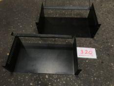 2x Rack support shelves