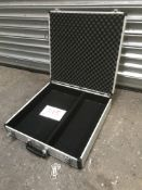 Small microphone briefcase, carpeted inside