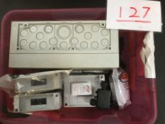 Box of junction boxes and wall mount MCB enclosures