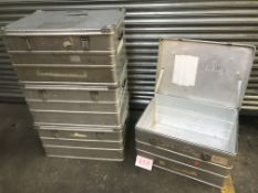4x Aluminium storage tins 780x580x410mm