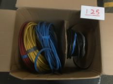 Box of part rolls single core 35mm sq cable