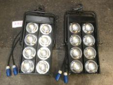 2x 8-Lite dual circuit audience blinders