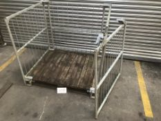 4x Galvanised steel pallet cages