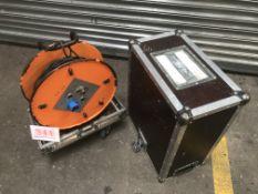 Flightcased cable drum