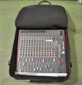 Allen & Heath ZED 16FX mixing desk with carry bag