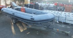 Avon W4 65 Inflatable Boat - Grey with Mariner Marathon 30 Engine, Quicksilver gasoline tan