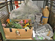 Decoration Assortment - Baubles, Artificial Flowers, planters