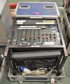 DJ Mixer Citronic CDM 10:4 Mixing Desk with 2 CD Decks & RSE Amplifier in Flight Case - L6