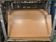 8x Folding leg desks - 1200 x 600