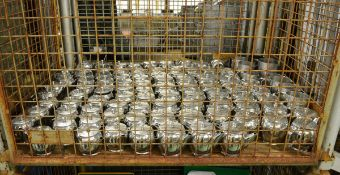 Metal teapots, milk jugs