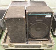 Peavey EuroSys 3 PA Speakers in Flight Case - L970 x D660mm